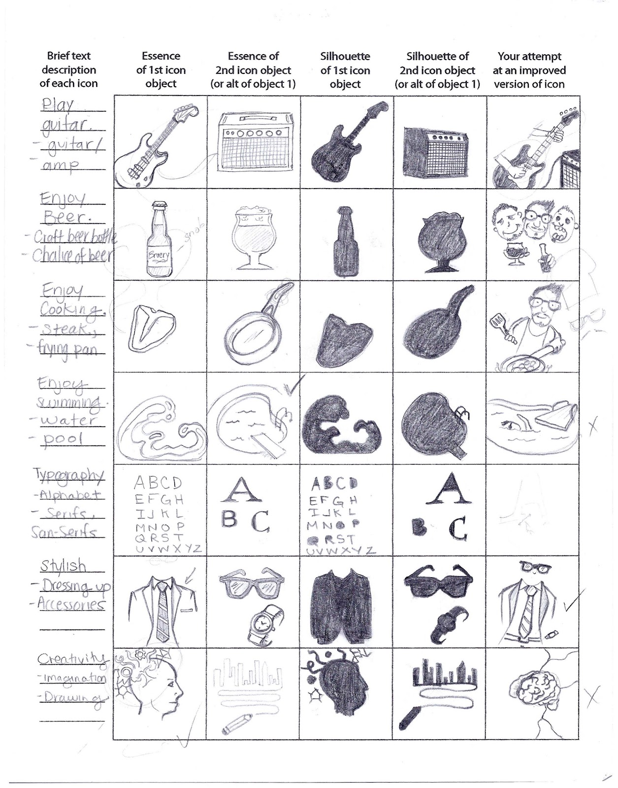 Designmindmeld Silhouette Icon Worksheet