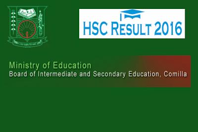 HSC result COMILLA board Bangladesh 2016