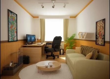 inspirasi dekorasi ruang tamu kecil dalam rumah minimalis