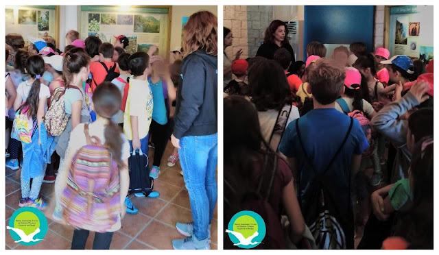 Ξενάγηση του Δημοτικού σχολείου Πρέβεζας στο κέντρο πληροφόρησης Αχέροντα