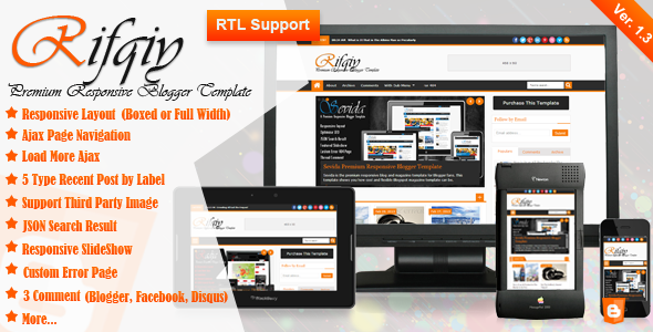 Free Download Rifqiy Premium Responsive Blogger Template Gratis