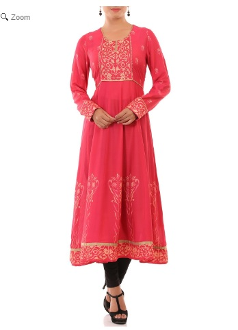 Red Kalidar Viscose Kurtha, Rangriti, Online Shopping Portal for Women, Ethinic Wear, Indian Wear