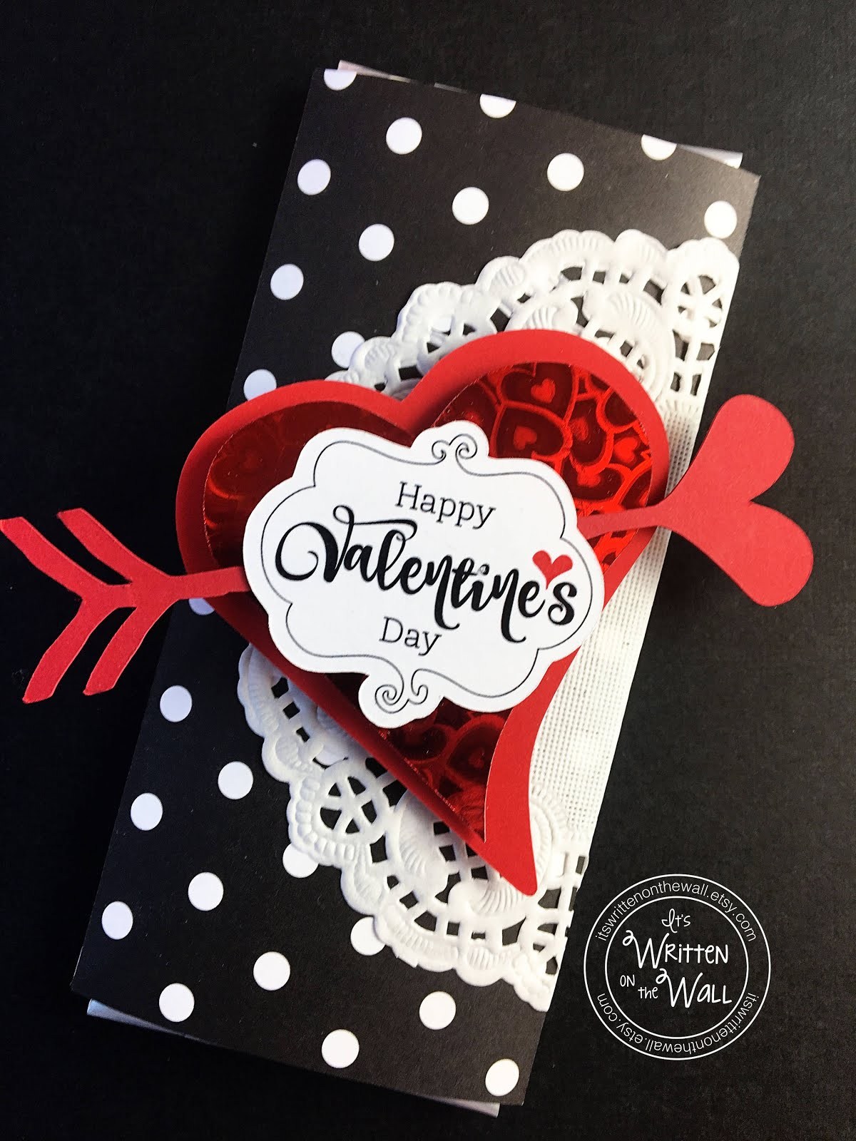 Polkadot Valentine's Day Candy Bar Wrappers