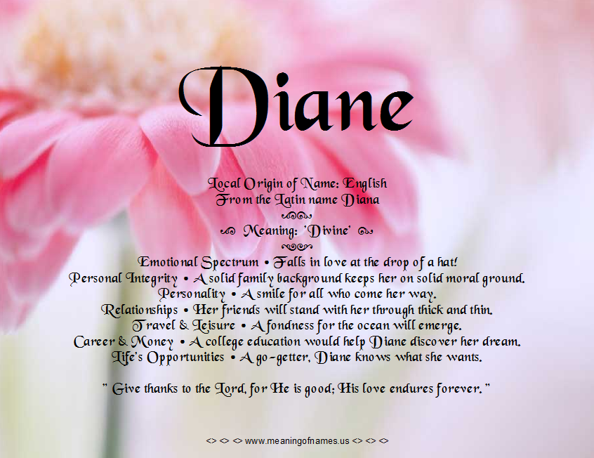 Diane Names Gallery