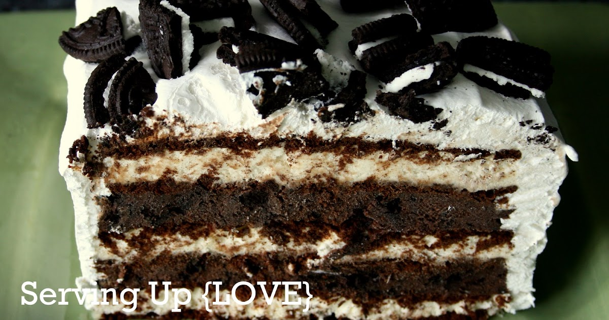 Serving Ice Cream Cake Direct From Freezer