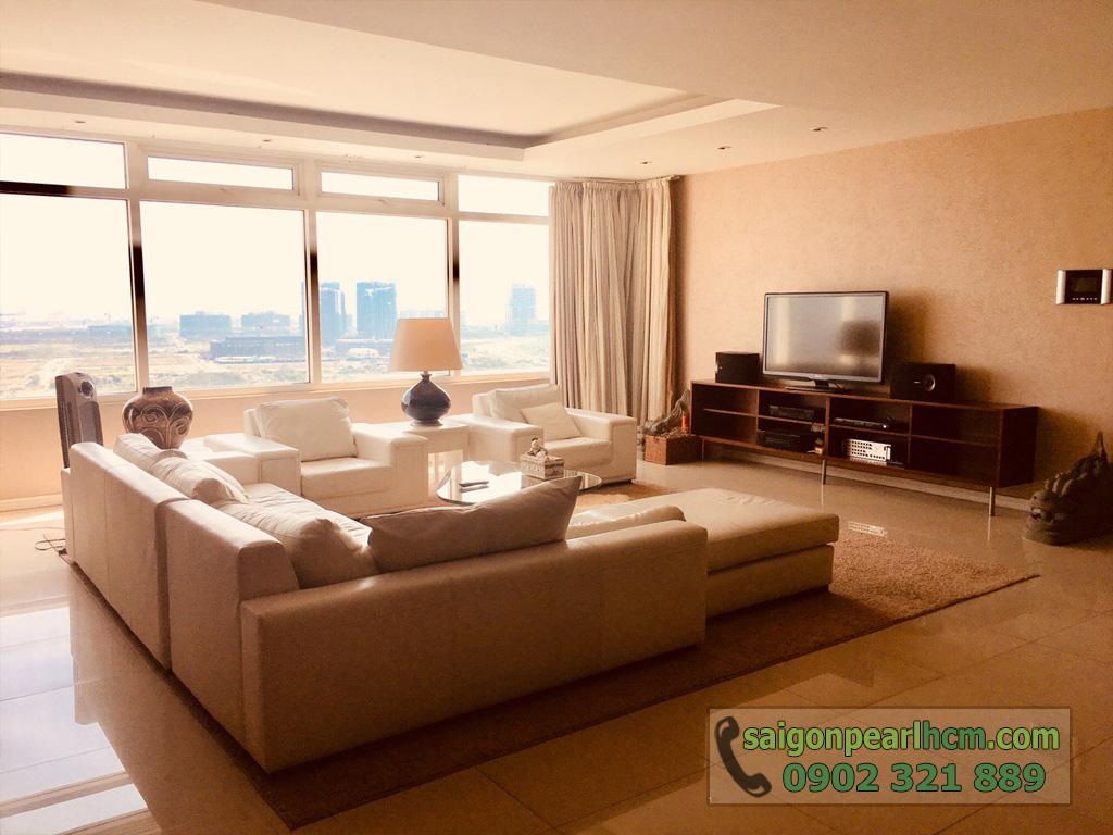 Cho thuê Saigon Pearl căn hộ 4 phòng ngủ 206m2 Ruby 1 view sông Sài Gòn - hình 8