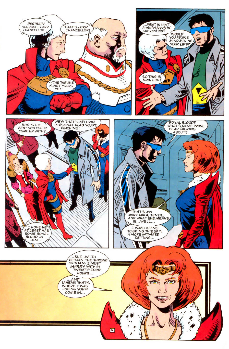 Legion of Super-Heroes (1989) 50 Page 4