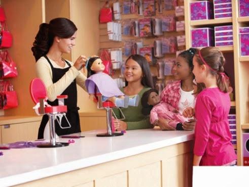 Estrutura da loja de bonecas American Girl Place em Miami