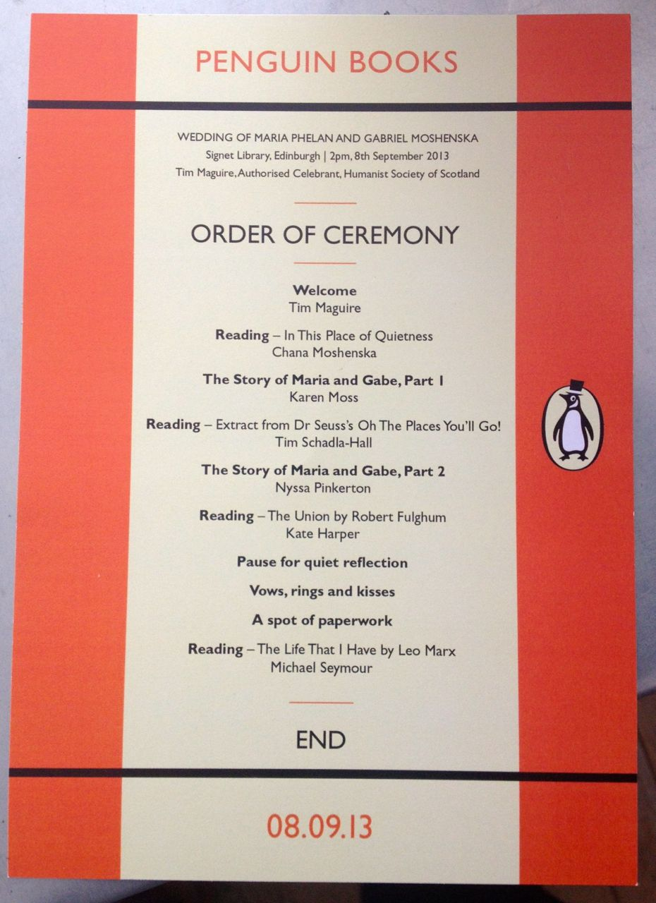 Step By Guide To A Humanist Wedding No 7 The Order Of Ceremony