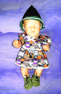 Doll's dress and witches hat