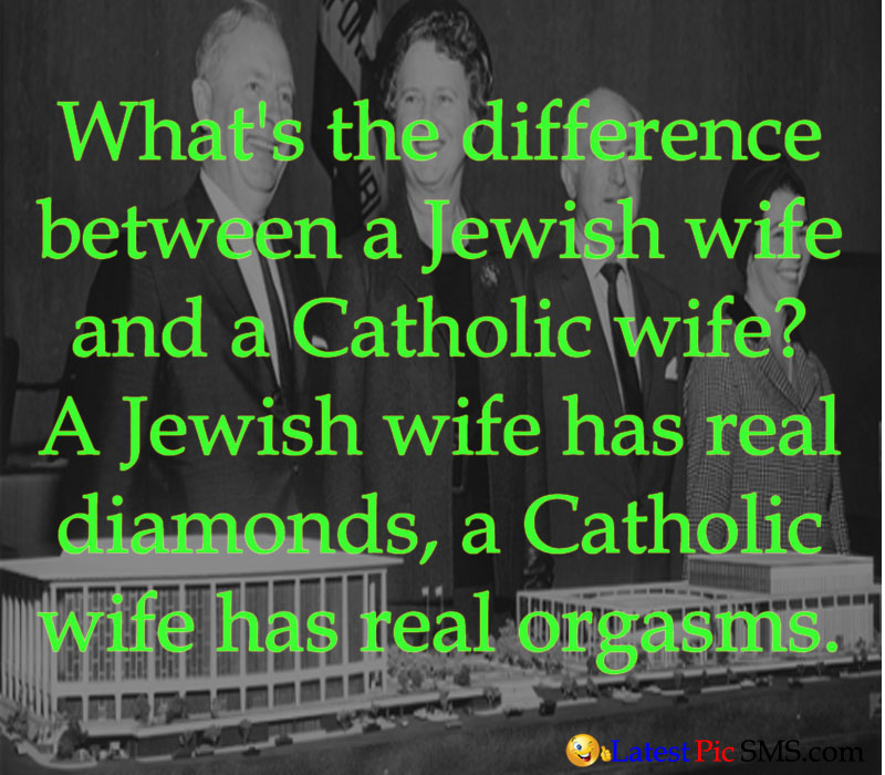 jewish wife and catholic wife funny joke picture