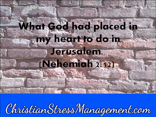 What God had placed in my heart to do in Jerusalem Nehemiah 2:12