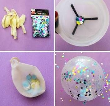 decoracao-simples-com-balao-e-glitter-para-festa-de-quinze-anos