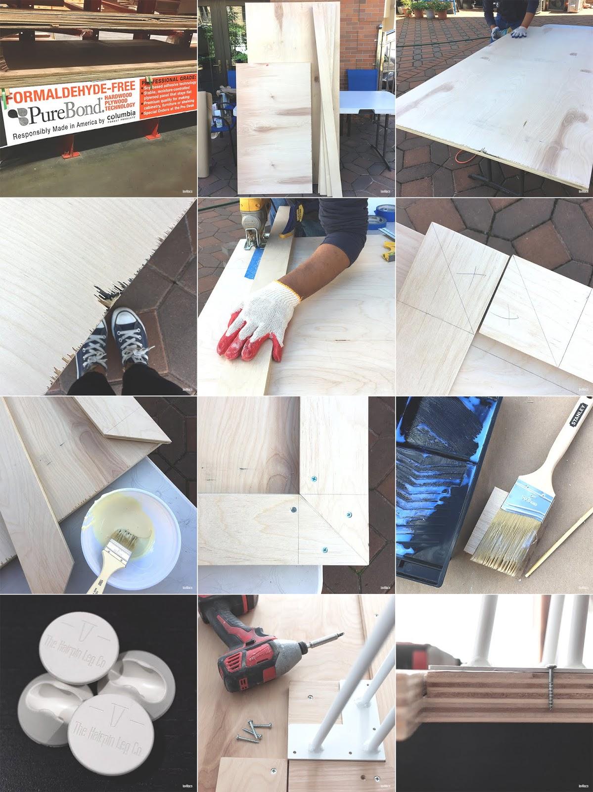 lavlilacs Custom Hairpin Desk process