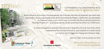 Invitación presentación Revista 100 años de Bordados