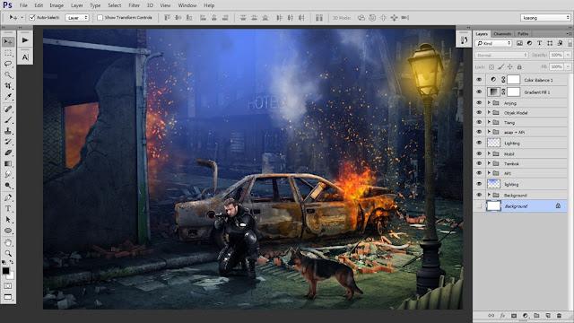 43 Tutorial Photoshop Dramatic Manipulation WAR part 2