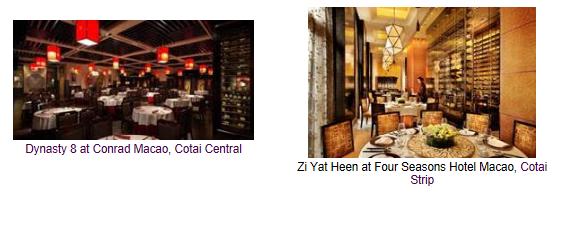 Eleven Sands Resorts Macao and Sands Macao Restaurants Receive Wine Spectator Awards