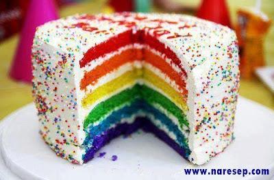 Cara Membuat Rainbow Cake Kukus Sederhana