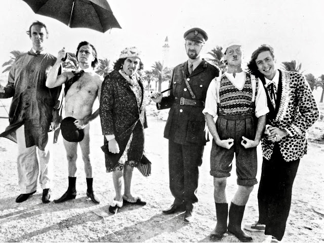 Monty Python and the Flying Circus, 1970s promo photo featuring the Pythons in various poses and costumes. A Nice Intellectual Song. Philosopher Song Live at the Hollywood Bowl. Other stories of Something to Say