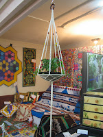A Macrame hanger displayed at the Show