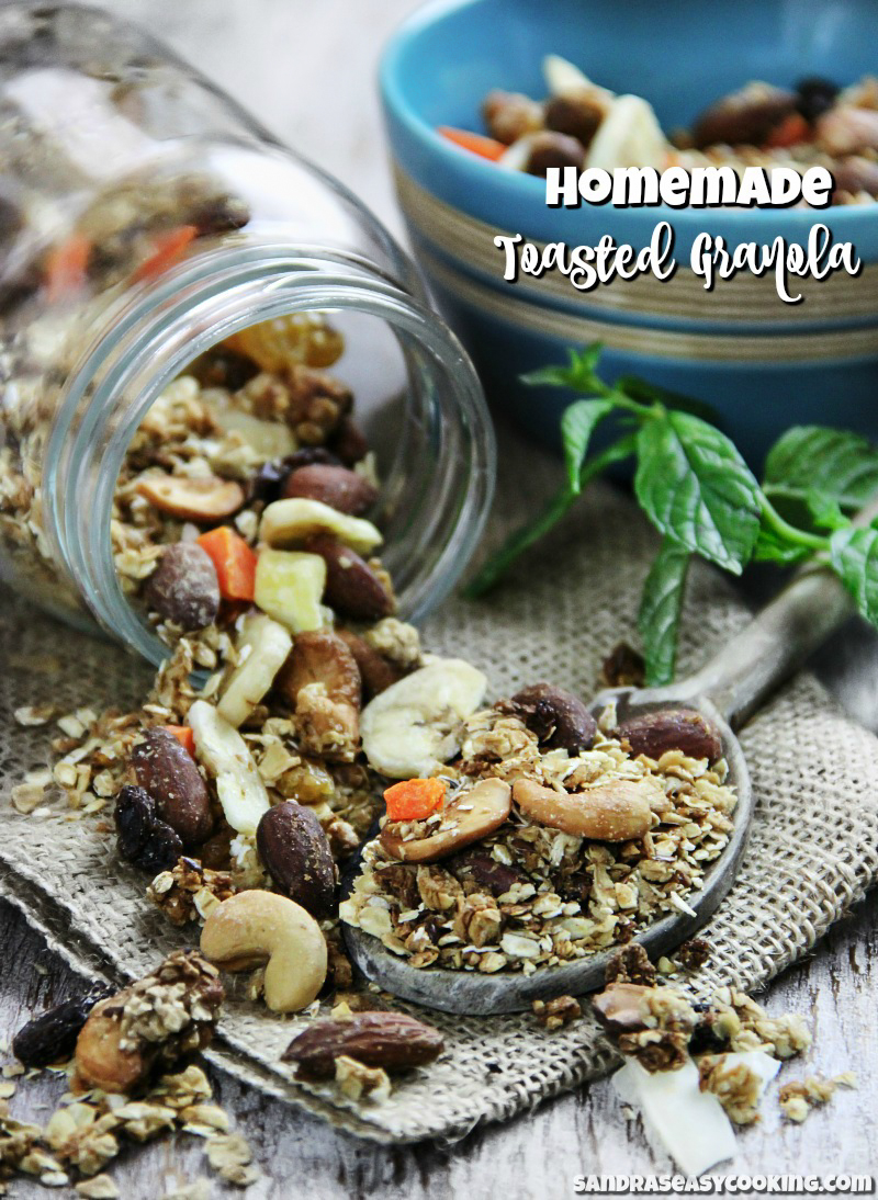 The Best Homemade Toasted Granola #recipes Visit: www.sandraseasycooking.com for more recipes