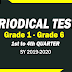 PERIODICAL TESTS (1st to 4th Quarter) SY 2019-2020