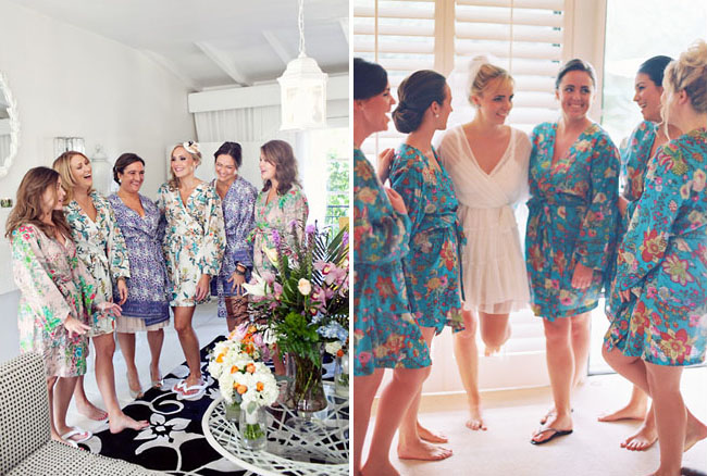 Chasing Rainbows Kissing Frogs: Bridal Party Pre-Wedding Wear