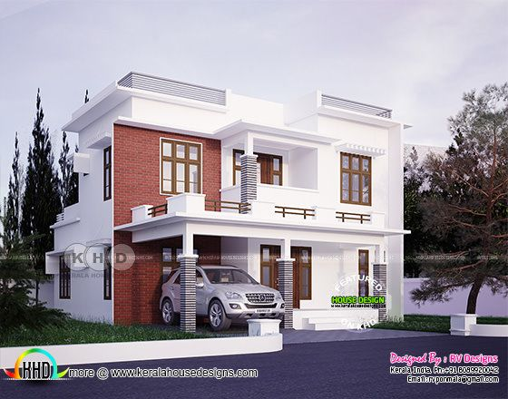 4 bedroom, modern style beautiful home plan