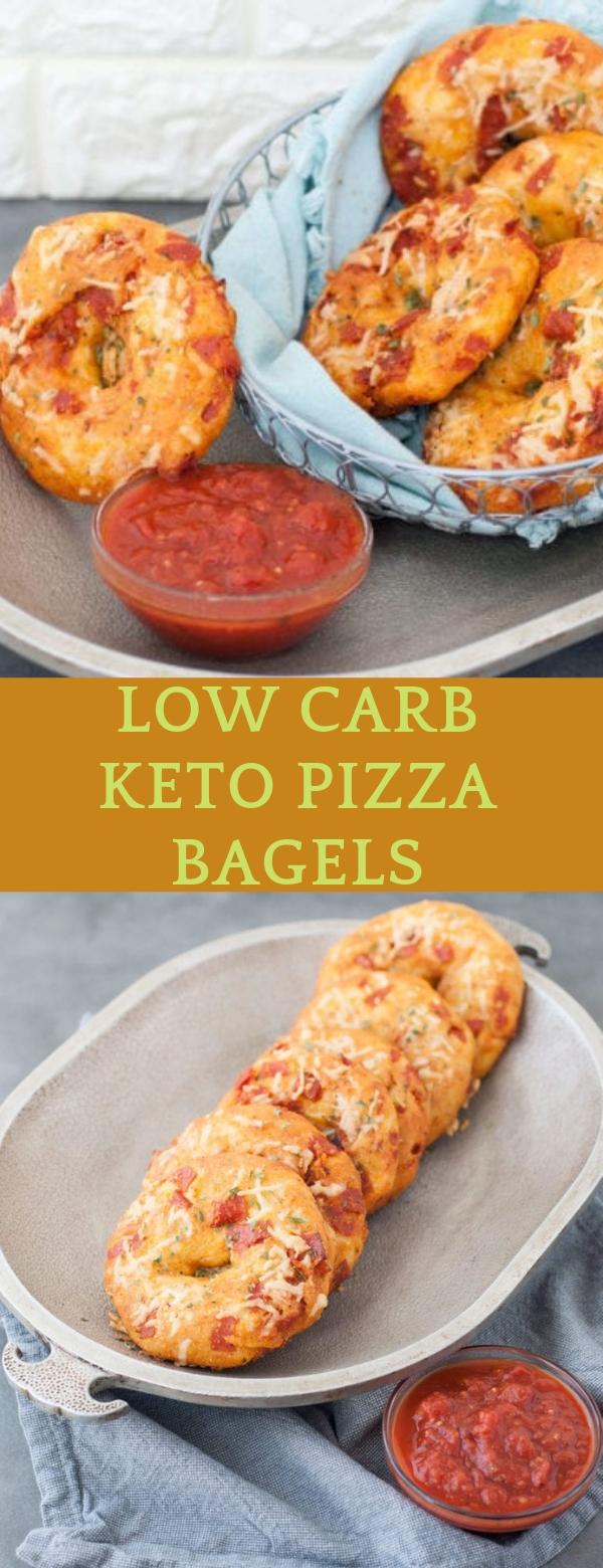 Low carb keto pizza bagels