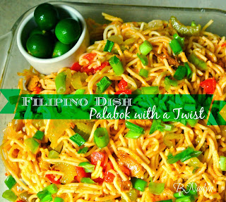 Filipino Dish Pancit Palabok