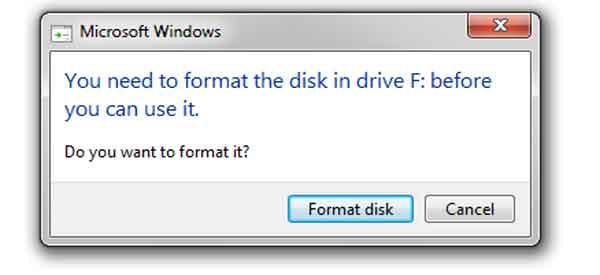 Hindari format flashdisk
