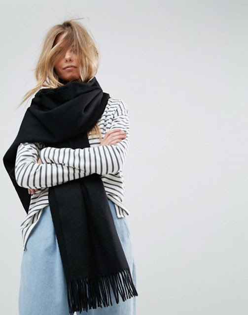 ASOS long oversized lambswool scarf