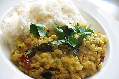 Tarka Dal With Tomato and Spices