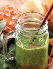Smoothie daun pepaya mix nanas sari belimbing