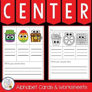 Alphabet Cards and Worksheets for Mystery CVC Word Fun Center at tpt