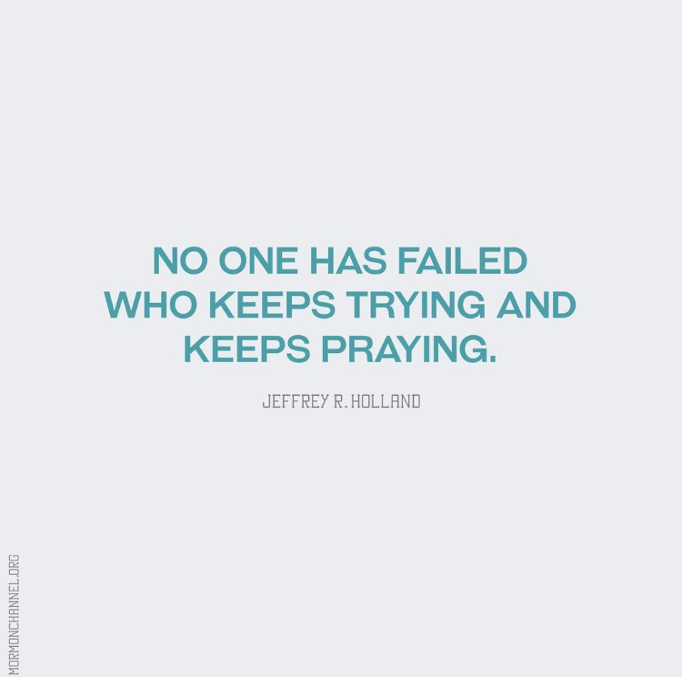 no one has failed who keeps trying and keeps praying ivf cycle failed