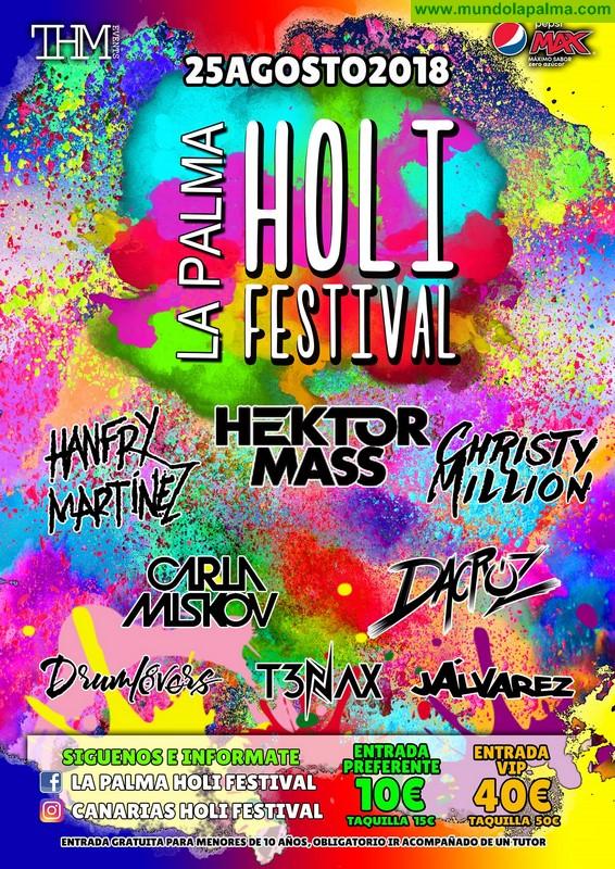 La tercera edición del Holi Festival reúne en Santa Cruz de La Palma a ocho grandes artistas de la música electrónica