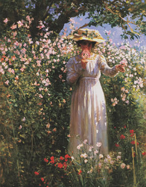 Summer's Day in the Flower Garden by Robert Payton Reid