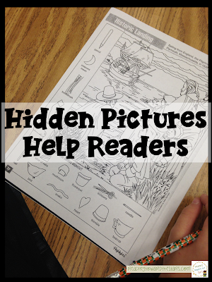 Hidden Pictures are more than fun for children. They can help with reading skills many struggling readers need help with such as visual discrimination.