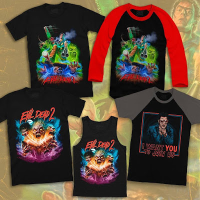 Evil Dead 2 Dead by Dawn T-Shirt Collection by Cavity Colors x Devon Whitehead x Hillary White