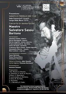A Pesaro il concerto evento per commemorare il maestro Salvatore Sassu