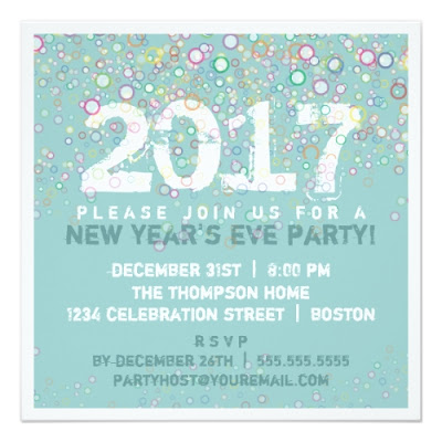 Colorful Bubbles - New Year's Eve Party Announcement