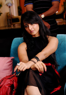 Anushka Shetty Hot in Black Dress Photos Stills