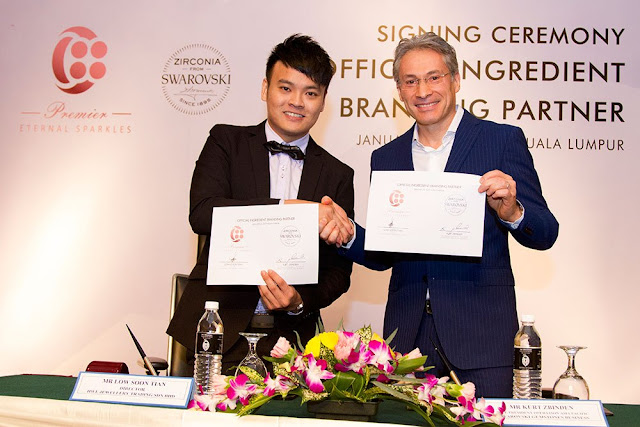 Official Signing Ceremony of Co-Branding Collaboration between  HWL Jewellery Trading Sdn Bhd ~ C88 Premier Jewelry & Swarovski Gemstones