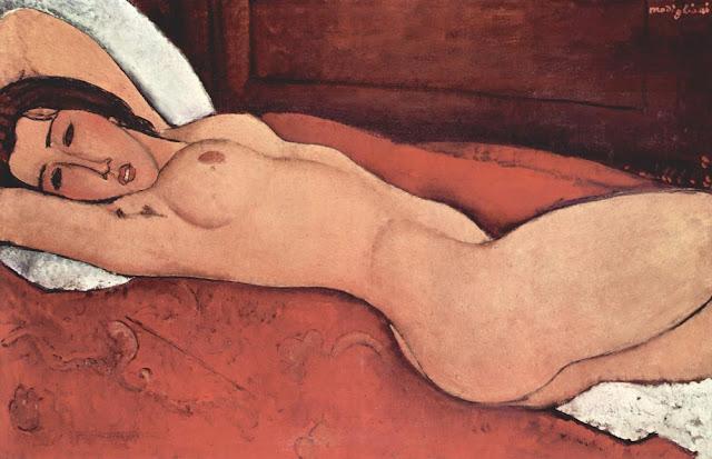 Modigliani Elleri Arkasında yatan Nü