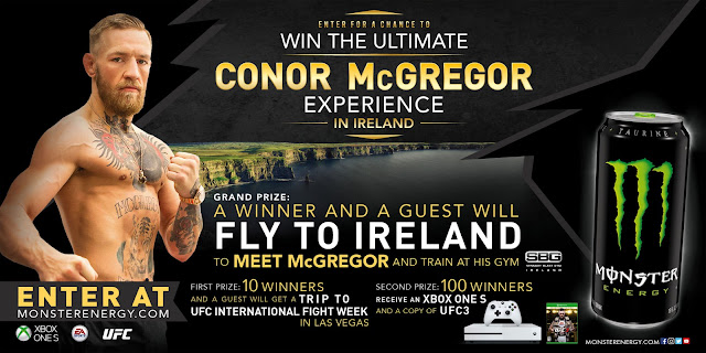 Monster Conor McGregor Experience Sweepstakes