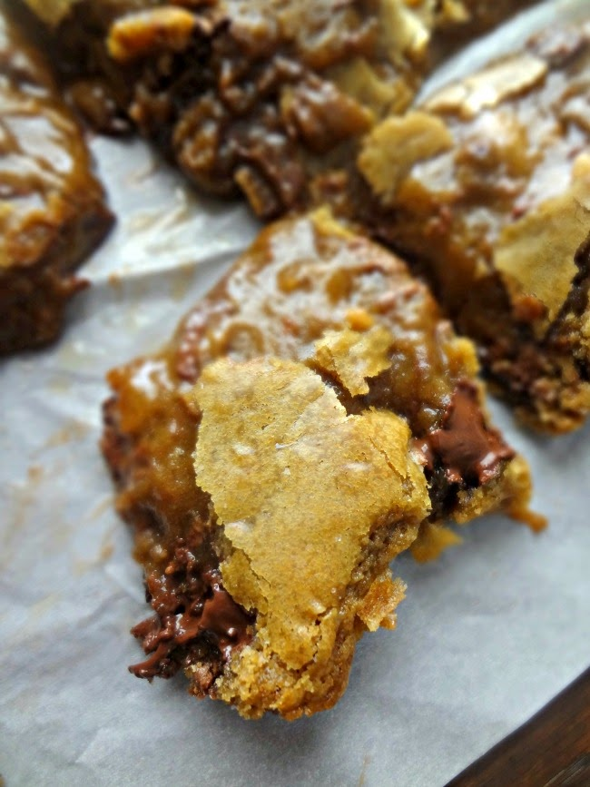 Browned Butter Brown Sugar Toffee Blondies