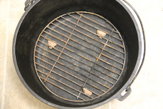 Grill grate in dutch oven
