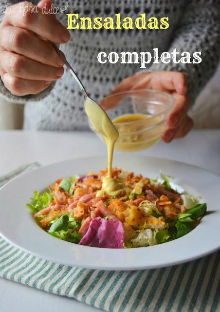 Ensaladas variadas y completas para comer de plato único