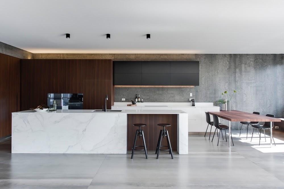 wooden-inlet-marble-kitchen-concrete-floor